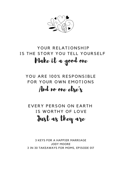 Jody Moore// 3 Keys to a Happier Marriage