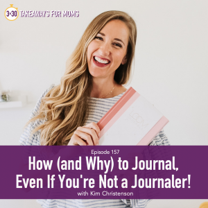 How to Journal by popular US mom podcast, 3 in 30: image of Kim Christenson holding a Loom journal.